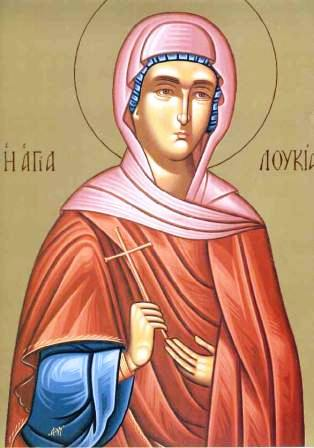 The Holy Martyr Lucy the Virgin