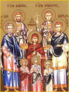 The Holy Martyr Theodota with her three Children