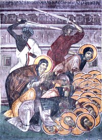 Martyr Michael, abbot in Armenia, and 36 Fathers with him (790)