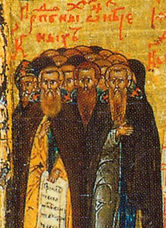 Our Holy Father John, and those martyred with him from the Community of St Sava the Sanctified near Jerusalem