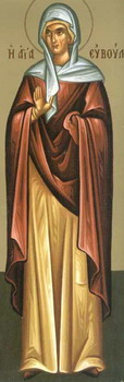 St. Eubula, mother of St. Panteleimon (304)