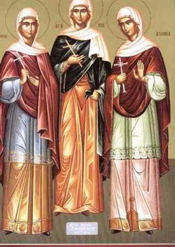 The Holy Martyrs Agapia, Chionia and Irene