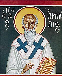 Venerable Arcadius of Arsinoe, Cyprus, bishop and wonderworker