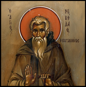 Venerable Nicholas of Courtaliatis in Crete, monk (1670)