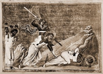 Martyrs Calodote, Macarius, Andrew, Cyriacus, Dionysius, Andrew the Soldier, Andropelagia, Thecla, Theoctistus, and Sarapabon the Senator, in Egypt (256)