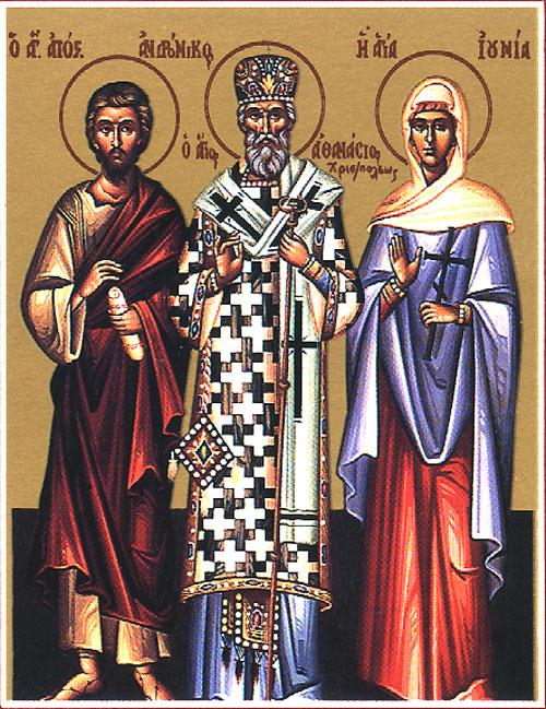 Venerable Athanasius the New, wonderworker of Christianopolis (18th c.)