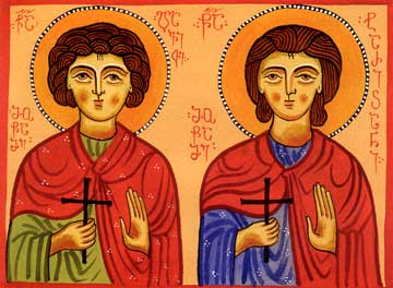 Holy Martyrs Davit and Tarichan (693)