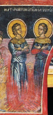 Martyrs Eleutherius and Leonides of Constantinople, and many infants with them