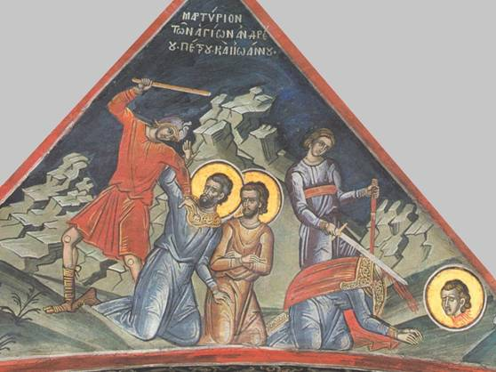 Martyrs Andrew, John, Peter, and Antoninus of Syracuse, martyred in Africa (886)