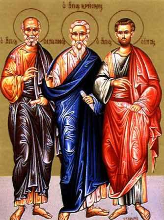 The Holy Apostles Silas, Silvanus, Crescens, Epaenetus and Andronicus