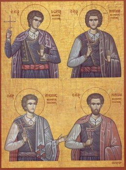 New Martyrs Angelis, Manuel, George, and Nicholas of Crete (1824)