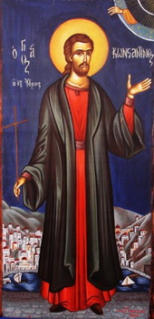 New Martyr Constantine of Hydra (Mt. Athos) (1800)