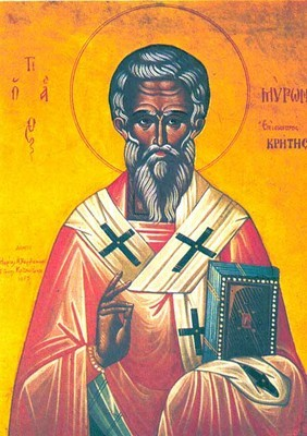 St Myron the Wonderworker, Bishop of Crete
