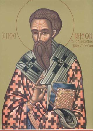 Hl. Nyphontes (Niphon), Patriarch von Konstantinopel