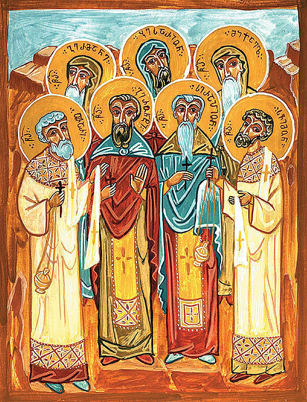 Monk-martyrs Gerontius, Serapion, Germanus, Bessarion, Michael, and Simeon of Garesja, slain by the Lekians (1851)