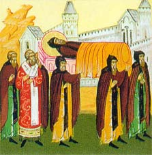 Translation of the relics of Venerable Theodosius of the Kiev Caves (1091)
