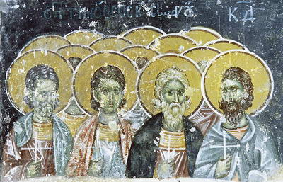 The Holy Martyrs Timothy, Agapius and Thecla