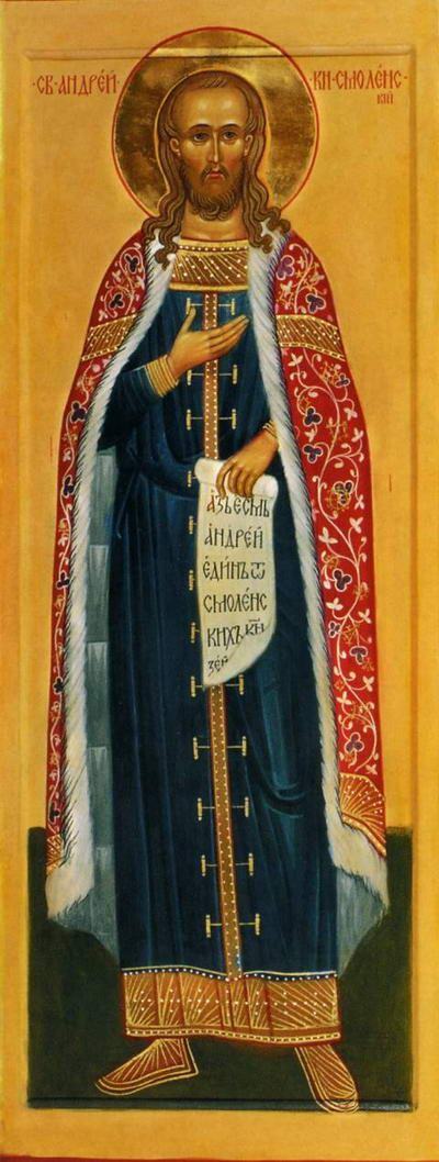 St Andrew, Prince of Smolensk