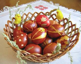 Easter uskrs vaskrs the tradition is dyeing the first set of eggs in red and setting one of them aside until next easter that egg is called the housekeeper referring to the m4hsunfo